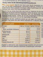 Kinder Beeren Müsli - Ingrédients - fr