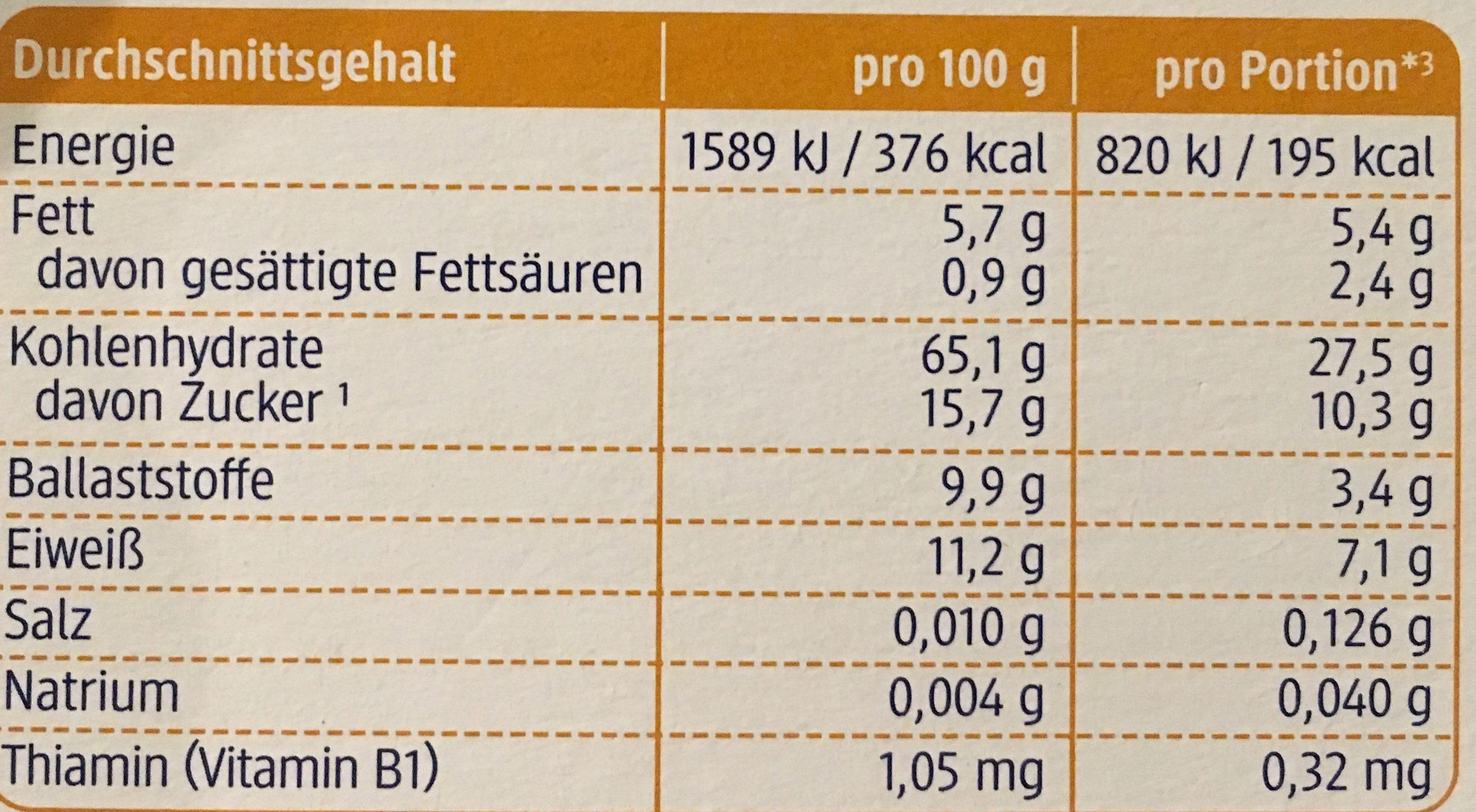 Kinder Beeren Müsli - Informations nutritionnelles - de