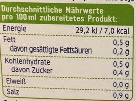 Gemüse Brühwürfel - Nutrition facts