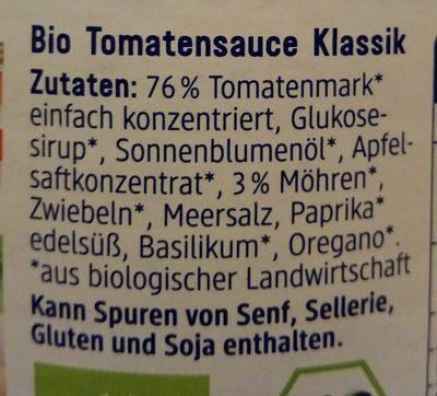 Tomatensoße Klassik (Ohne Knoblauch) - Ingrédients
