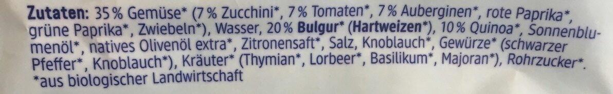 Dmbio Bulgur & Quinoa Mit Gemüse - Ingredients