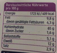 Dinkel Mini Brezeln - Nutrition facts