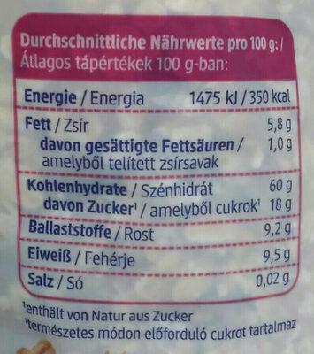 Beeren Müsli - Nutrition facts