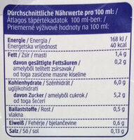 Hafer Drink Natur - Informations nutritionnelles - de