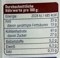 Schoko Reiswaffeln Zartbitter - Informations nutritionnelles