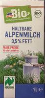 Haltbare Alpenmilch 3,5% Fett - Produit - de