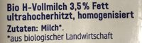 Haltbare Alpenmilch 3,5% Fett - Ingrédients - fr