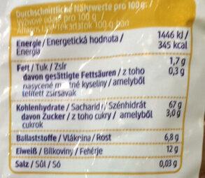 Vollkorn Farfalle - Nutrition facts