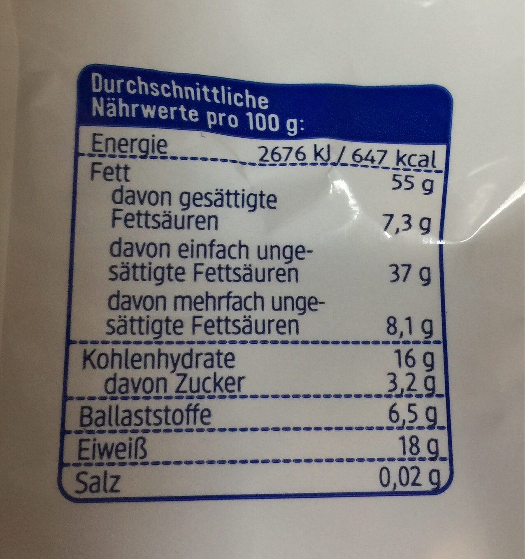 Pistazien geröstet - Nutrition facts - de