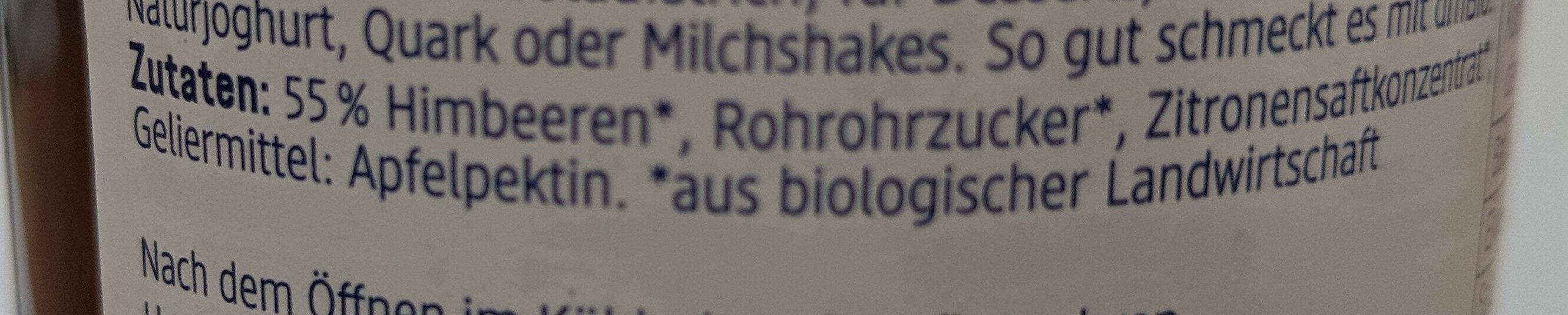 Himbeere Fruchtaufstrich - Ingredients