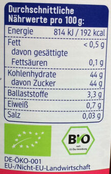 Himbeere Fruchtaufstrich - Nutrition facts