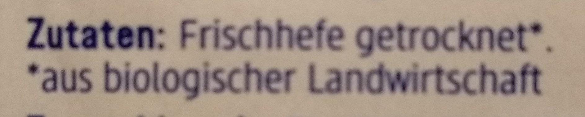 Backhefe - Ingrediënten - de
