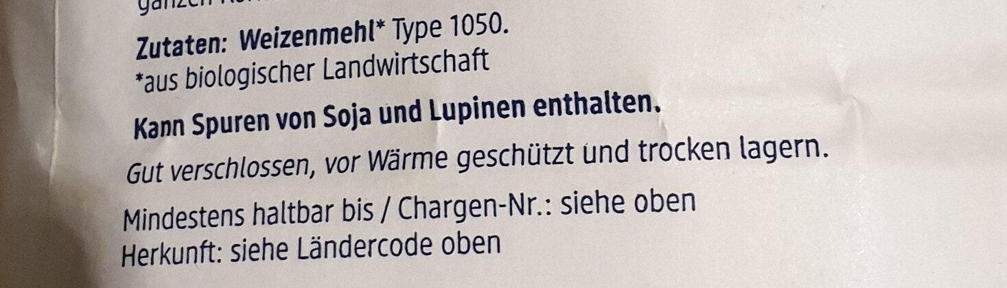 Weizenmehl Type 1050 - Ingredients - de