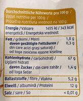 Weizenmehl Type 1050 - Nutrition facts - de