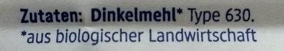 Dinkelmehl Type 630 - Ingredients