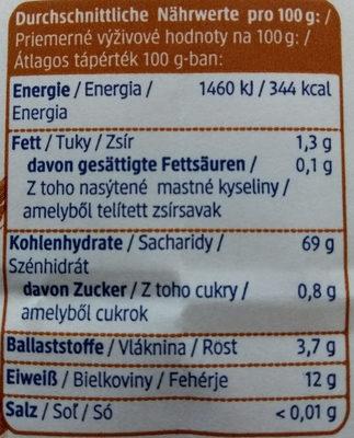 Dinkelmehl Type 630 - Nutrition facts