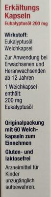 Erkältungskapseln - Ingredients