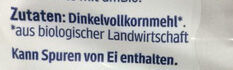 Dinkel Vollkorn Locken - Ingredients