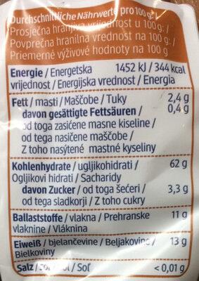 Dinkel Vollkorn Locken - Nutrition facts