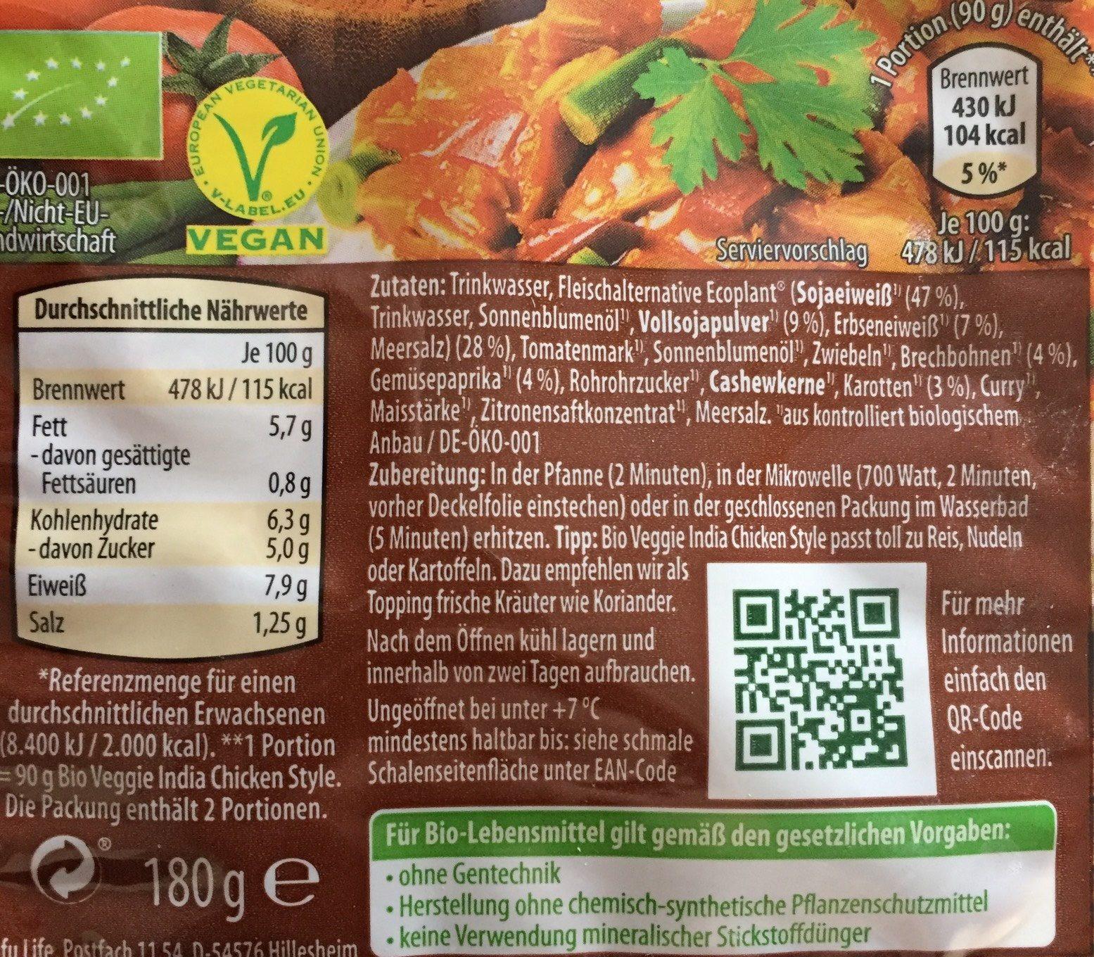 Basmati Reis - Volkorn - Nutrition facts