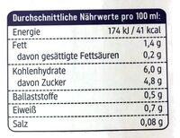 Hafer Drink Vanille - Informations nutritionnelles