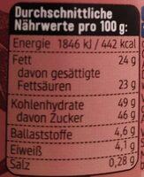 Kokos Aufstrich mit kakao - Nährwertangaben - de
