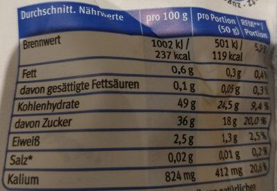 französische Pflaumen naturbelassen - Nutrition facts - de