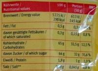 Datteln - Informations nutritionnelles