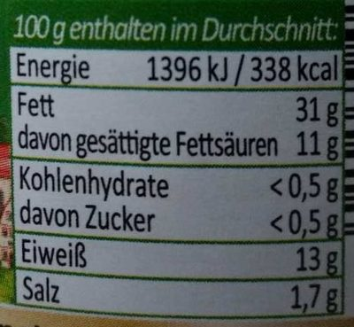 Mutter's Leberwurst - Nutrition facts