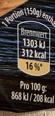 Stremellachs schwedische Art - Nutrition facts