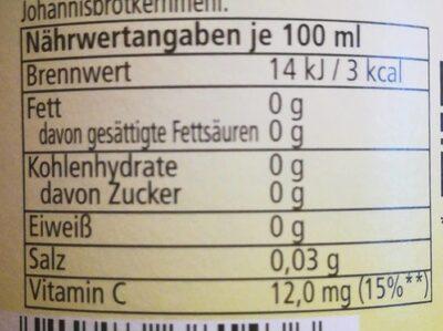 Grapefruit Fit Zero - Valori nutrizionali - de