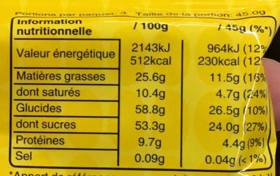 M&M's Peanut (x3 pack) - Informations nutritionnelles - fr