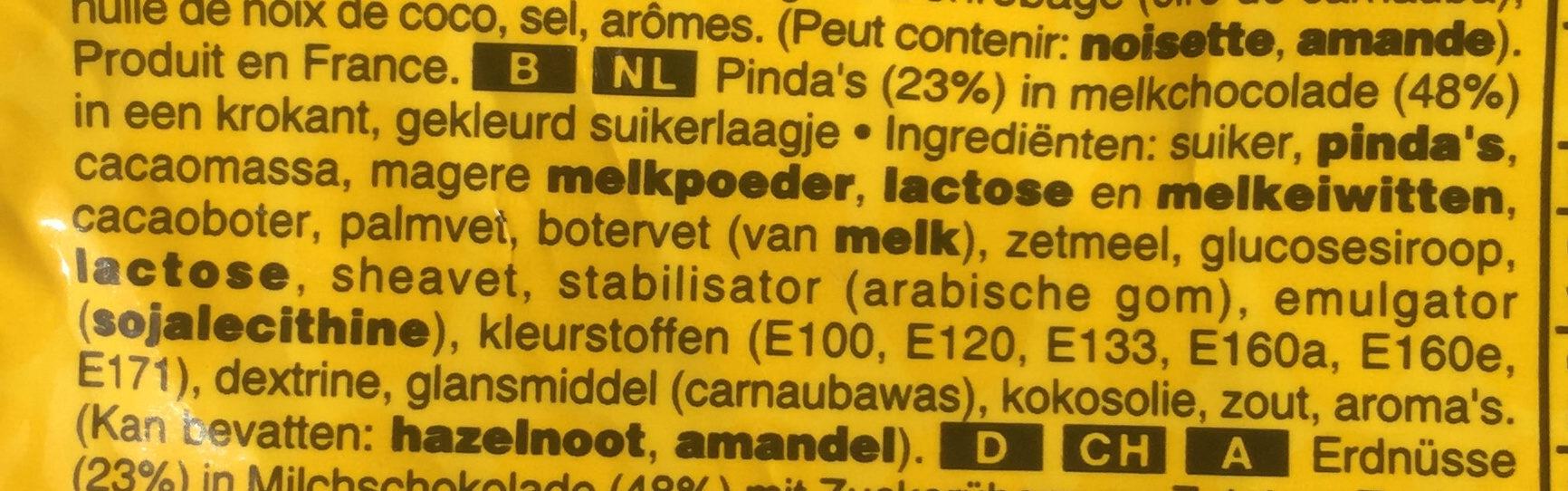 M&M's Peanut - Ingrediënten - nl