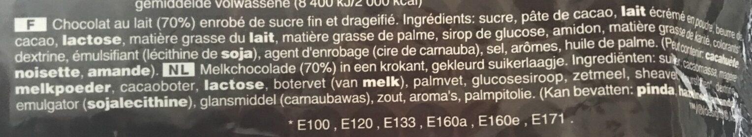 M&m's Chocolate (Large) - Ingrédients