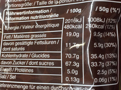 M&m's Chocolate (Large) - Informations nutritionnelles - fr