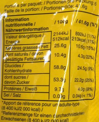 M&m's peanut - Informations nutritionnelles