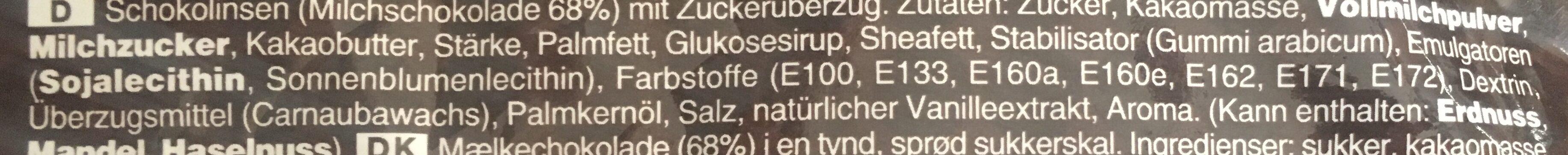 M&M Chocolate - Ingrediënten - de