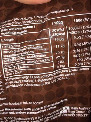 M&M Chocolate - Ingrediënten