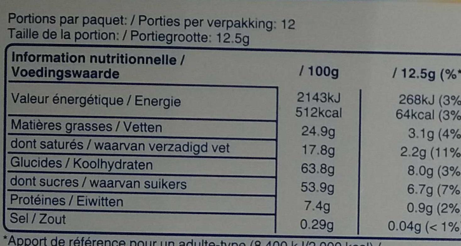 Crispy Rolls - Valori nutrizionali - fr
