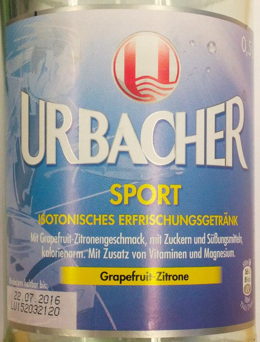 Urbacher Sport Grapefruit-Zitrone - Produkt - de