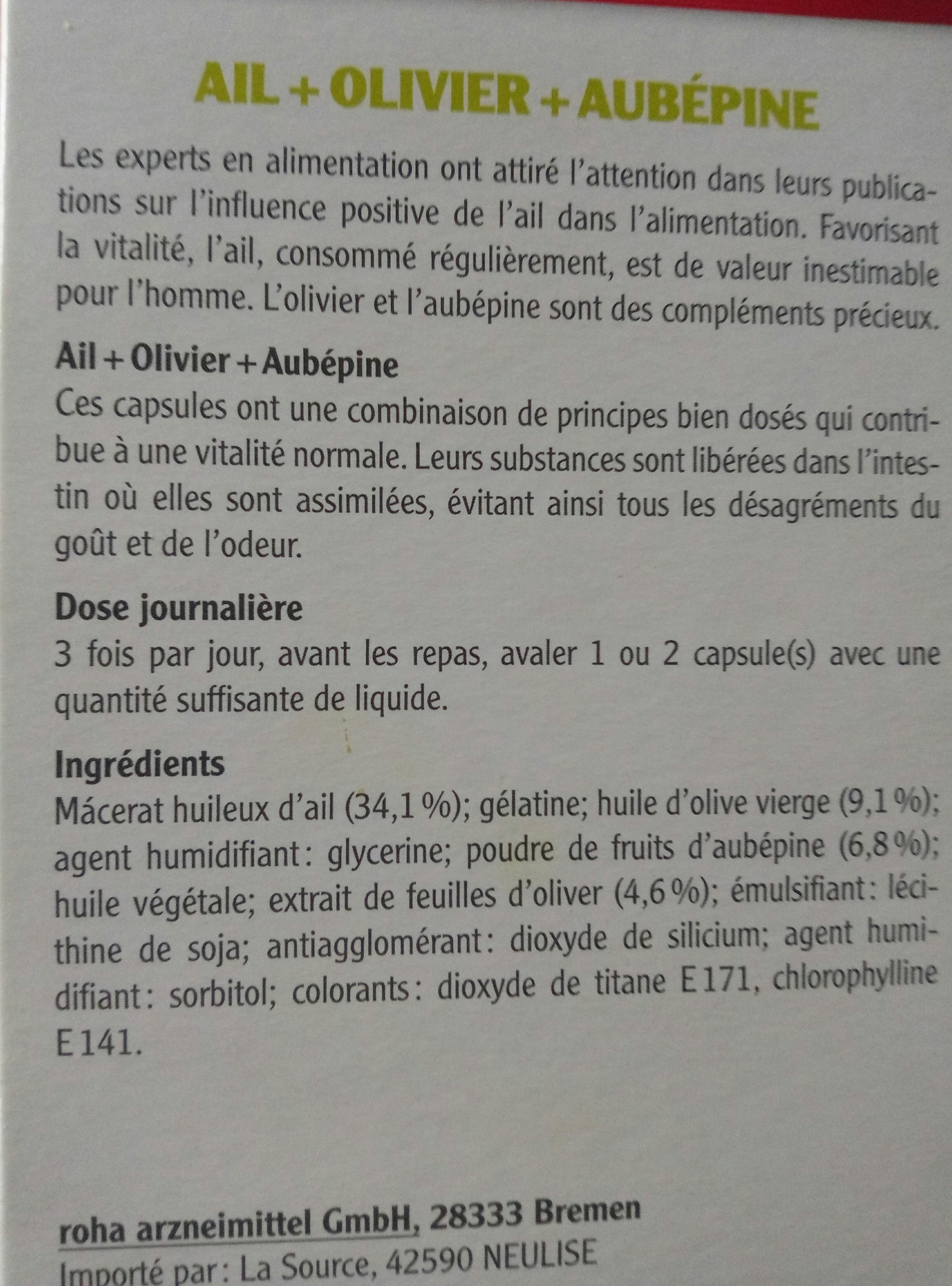 ail + Olivier + aubépine - Produit - fr