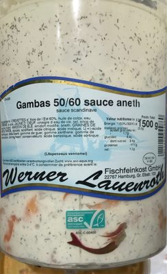 Gambas 50/60 sauce aneth - Produit