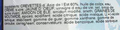 Gambas 50/60 sauce aneth - Ingrédients