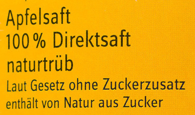 Apfelsaft naturtrüb - Ingredients