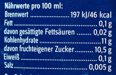 Apfelsaft naturtrüb - Nutrition facts