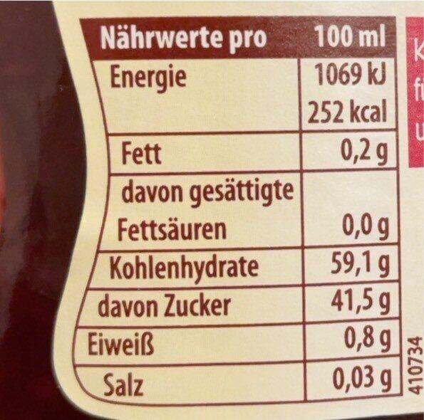 Sauce Himbeere - Nährwertangaben - de