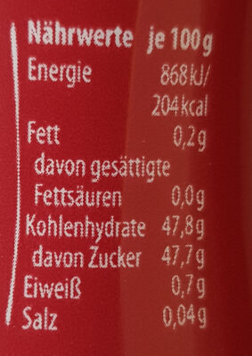 Samt Himbeere - Nutrition facts - de