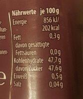 Samt Schwarze Früchte - Informazioni nutrizionali - de
