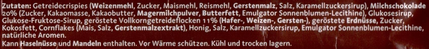 Corny BIG Schoko - Ingrédients