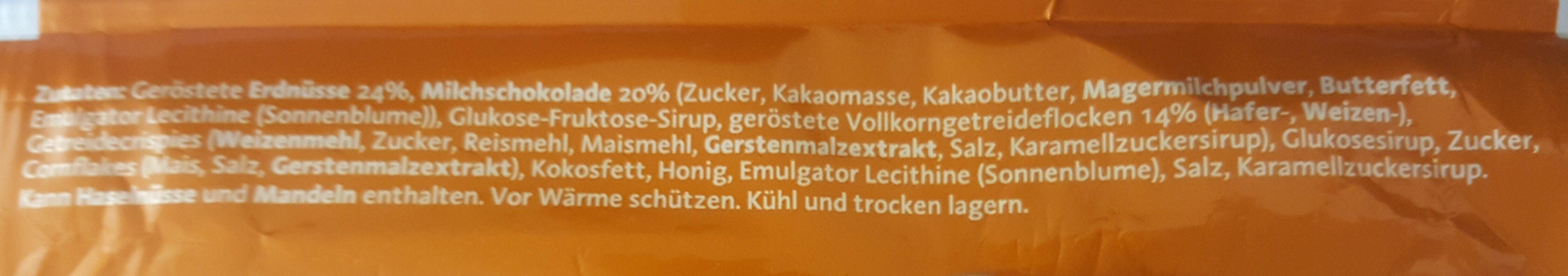 Corny Big Erdnuss-schoko - Ingrediënten